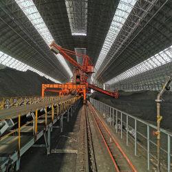 При выполнении транспортера с помощью натяжных роликов для алюминиевого производства в горнодобывающем секторе