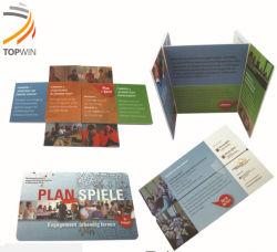 بطاقة قابلة للطي للطباعة من خلال الإعلانات المثيرة مع ملصقات PVC أحجية سحرية للعرض الترويجي