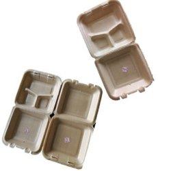 PLA Espuma Bandeja de embalagens biodegradáveis em ambiente fresco Caixa Blister Recipiente de alimentos com tampa