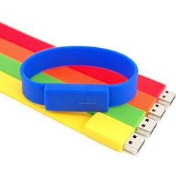 Bracelet en PVC Flash USB 2.0 pour cadeaux promotionnels