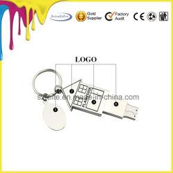 Klassisches USB-Blitz-Laufwerk mit Metallgehäuse mit kundenspezifischem Firmenzeichen