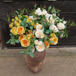 80cm de la soie rose fleur rose artificielle décoratives de mariage de la tige pour la vente de fleurs
