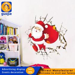 Feliz Natal parede da sala do agregado Sticker Bonitinha Santa Claus adesivo removível