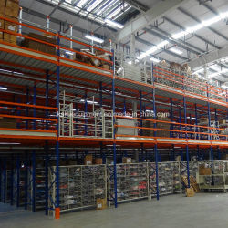 Multi niveau mezzanine de l'entrepôt sélective rayonnage