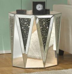 新しいデザイン三角形の黒の水晶多角形のルート形ミラーの側面表
