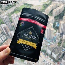 Existências disponíveis preto plástico Soft Touch Cannabis Sacos de flores