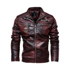Vêtements d'hiver hommes Le manteau veste de cuir Motorcyclecoat Style Business Vestes