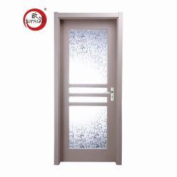 Moderne Art-Ausgangshotel-Schwingen-lichtdurchlässige Glasoberflächen-fertige festes Holz-Tür Belüftung-Oberfläche