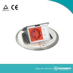 Runde Form-Kupfer-Material-angehobener Universalfußboden steckt Kontaktbuchse ein