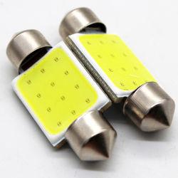 31mm 36mm 39mm 42mm C5w Durable CC12V COB LED filamento Embellecedor de licencia de la cúpula de las luces de cristal lámpara de lectura