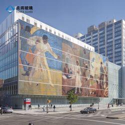 Сoвещания изоляцией с рисунком красочные изображения цифровой печати керамические Frit стекло для украшения фасада
