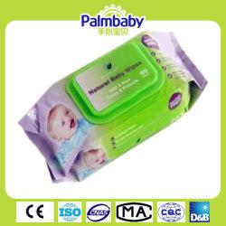 Serviette humide pour bébé de bonne qualité avec certificat de la FDA