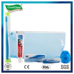 Kit de cuidados orais de viagens profissionais no saco azul, Fábrica de Kit de Viagem