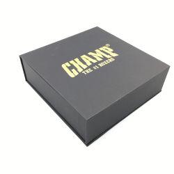 Verpakkende Vakje van de Verpakking van de Gift van het Document van de Riem van het Leer van de Vorm van het Boek van het Karton van de Douane van de luxe het Embleem Afgedrukte Vouwbare
