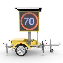 Outdoor Radar mobile solaire portable activé signe d'avertissement de limite de vitesse variable