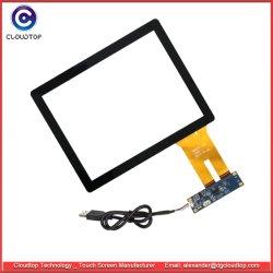 8 pulgadas capacitiva proyectada (PCAP) Kit de pantalla táctil con placa de controlador y el cable USB