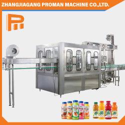 Automatischer Blasformen-Haustier-Flascheshrink-Kennsatz, der reines Aqua-Wasser-füllenden abfüllenden Verpackungsmaschine-/Getränkearoma-Getränk-Warmeinfüllen-Saft-Produktionszweig trinkt