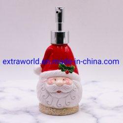 La navidad Santa Claus dispensador de jabón de acabado de cerámica de accesorios de baño