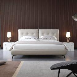 Moderner super weicher Schlafzimmer-Möbel-König Queen Size Leather Bed