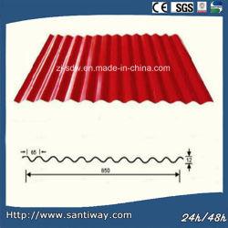 Revestimiento de color PPGI Onda Metal techos tejas de acero corrugado