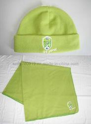 Moda verde azeitona velo polar (HAT e lenços de pescoço)