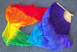 Ventilador de seda, la danza del vientre del ventilador de seda, la seda Fanveil