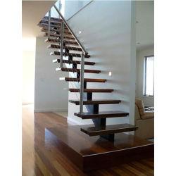 普及した方法現代デザインステンレス鋼のまっすぐなステアケース