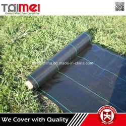 Paisaje agrícola de plástico anti-UV tela tejida de polipropileno cubierta de tierra de control de malezas Mat