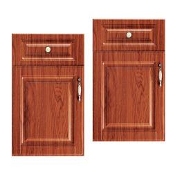 Porta de PVC de melamina cor de madeira para armário de cozinha (AF013)