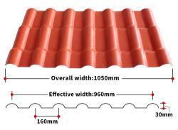 Trapezoider langer Dach-Blatt-/dach-Blatt-Preis der Überspannungs-UPVC Teja-PVC/Corrugated Plastik
