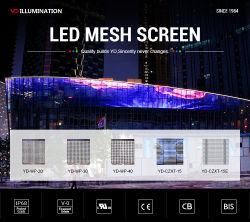 방수 P31.25 투명 그리드 LED 디스플레이 LED 비디오 월