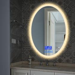 Specchio fissato al muro della stanza da bagno dell'interruttore LED Digital di tocco della decorazione