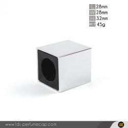 Perfumeのための正方形Fea15mm Sliver Zamac Lid Zinc Alloy Metal Cap