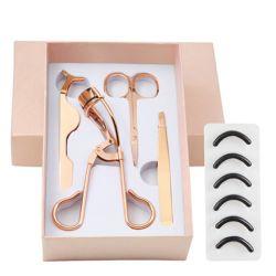 4 PCS Conjunto de herramientas de maquillaje pestañas pestañas de acero inoxidable pinzas moldeador de Pestañas postizas de pinzas de extensión de la Ceja Tijeras Esg13727 Juego de juego