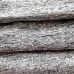 Tejidos de lino tejido gris Heather (QF14-1546-736)