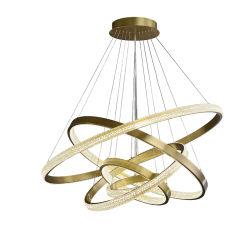 Оптовая торговля современный крытый декоративные LED люстра из нержавеющей стали акриловые подвесной светильник