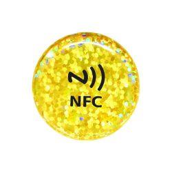 l'autoadesivo adesivo della modifica di media sociali NFC di iPhone Rewritable personalizza la scheda del contatto di affari di marchio RFID per Facebook Tiktok/Instagram