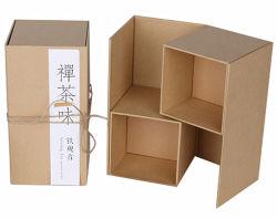 Het bruine Verpakkende Vakje van de Thee van het Document van Kraftpapier