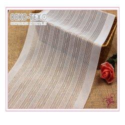 新しい2020の方法縞の織物の伸縮性がある化学綿のレースファブリック