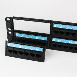 48 포트 카탈로그 6 UTP 패치 패널 모듈 분리 가능
