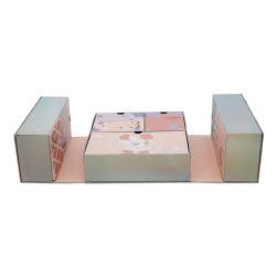 Das geöffnete Pdwpacking_ Doppelte konzipierte Spiel-Pappspielzeug-kosmetischen Papierverpackengeschenk-Kasten