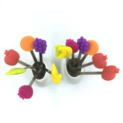 Высокое качество отпечатков пальцев пищевых сортов фруктов из нержавеющей стали силиконового герметика вилочного захвата
