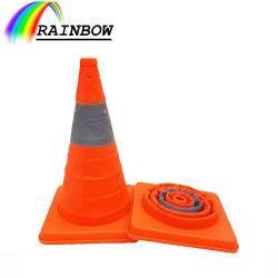 سعر الجملة طريق السلامة العين Orange العين اللافتة PP/PVC طي قابل للطي طي مخروط/كونو حركة المرور القابل للسحب للشاحنة