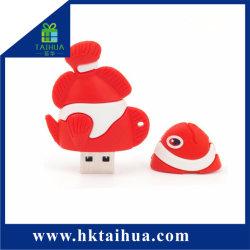 Barato preço PVC maleável Unidade Flash USB 3D Cartoon Design USB Silicone Tampa Contra Poeira