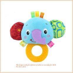 Estalido do recém-nascido quente do lado de brinquedos para bebês de Bell Anéis Infantil de desenhos animados interativos recheado animais dom do bebé