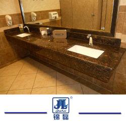 Nutural poetste Tan Bruine Countertop van het Graniet voor Hotel van het Huis van de Bank van de Badkamers van de Keuken het Hoogste op