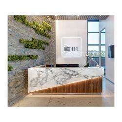 De estilo francés industrial moderna recepción Recepción caliente de la parte superior de acrílico Venta Mostrador de recepción con pared de fondo
