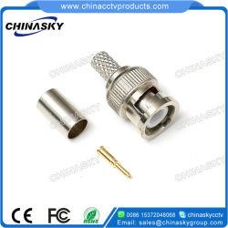 Para Crimpar Macho CCTV BNC Conector para Rg59 U Cable Coaxial (CT5045)