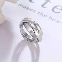 3組のリングの方法3リングの人および女性3カラーリングのチタニウムの鋼鉄宝石類
