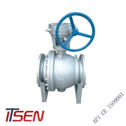 API6D 2PC/acero al carbono de la clase de acero inoxidable 150/300 (lb) de control hidráulico Industrial fabricante de válvula de bola para sanitarios
